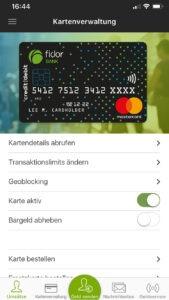 Fidor Mobile App - Card Administration